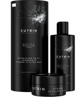 Набор для мужчин (Освежающий шампунь и воск) Cutrin Routa Gift Box