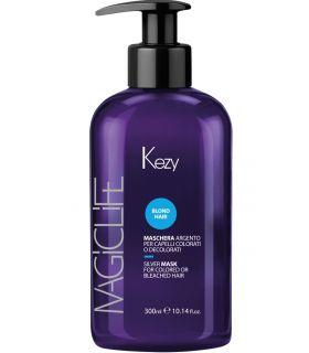 Серебряная маска для окрашенных и осветленных волос Kezy Magic Life Blond Hair Silver Mask
