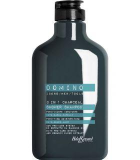 Очищающий и увлажняющий шампунь для кожи, бороды и волос Helen Seward Domino 3 In 1 Charcoal Shampoo