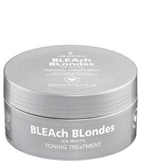 Тонирующая маска для пепельных и седых оттенков Lee Stafford Bleach Blondes Ice White Toning Treatment