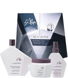 L'Alga.Seazone Набор (шампунь 250мл + маска 250мл + спрей 100мл)