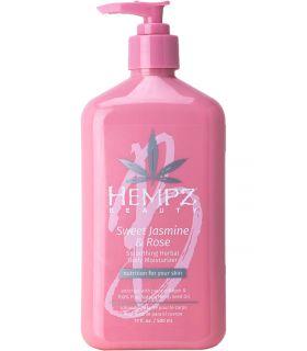 Молочко для тела Жасмин-Роза с коллагеном Hempz Sweet Jasmine & Rose Collagen Infused Herbal Body Moisturizer