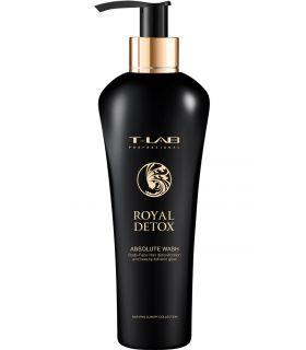 Шампунь-гель для абсолютной детоксикации волос и тела T-LAB Professional Royal Detox Absolute Wash