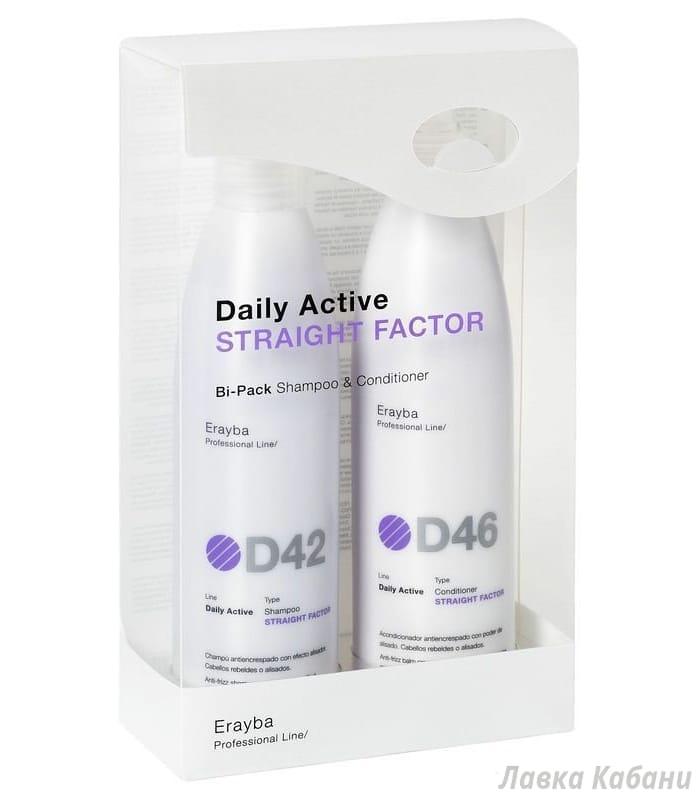 Фото ERAYBA D42/46 Straight Factor Set - Набор (шампунь+кондиционер) для выпрямления волос
