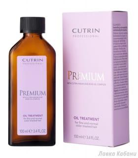 Фотография Масло-уход для нормальных и тонких окрашенных волос Cutrin Premium