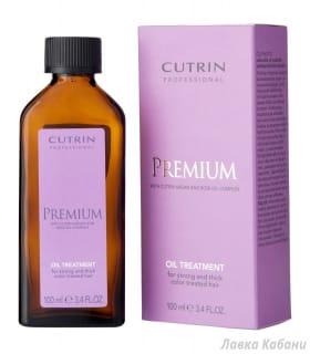 Фото Масло-уход для жестких и сильных окрашенных волос Cutrin Premium