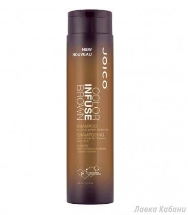 Оттеночный коричневый шампунь Joico Color Infuse Brown Shampoo