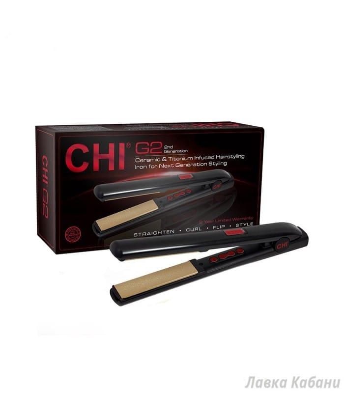 Керамический утюжок с титановым покрытием для выравнивания волос CHI G2 Ceramic and Titanium Infused Hairstyling Iron