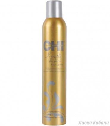 Лак гибкой фиксации CHI Keratin Flex Finish Hair Spray