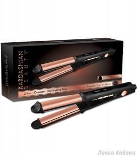 Керамический утюжок с титановым покрытием для выравнивания волос CHI Kardashian Beauty 3-in-1 Ceramic Iron