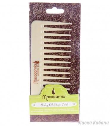 Гребень для волос,пропитанный маслом арганы и макадамии Macadamia