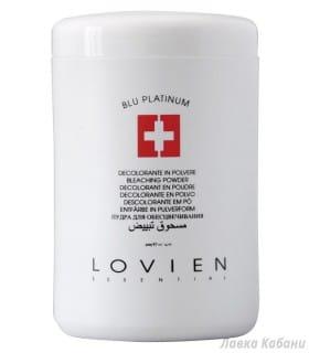Фото пудры для обесцвечивания волос Lovien Blue Platinum Bleaching Powder
