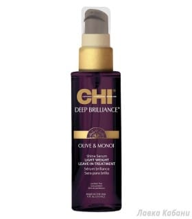 Фото CHI Deep Brilliance Olive & Monoi Shine Serum Lightweight Leave-In