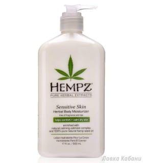 Фото Растительного увлажняющего лосьона для чувствительной кожи Hempz