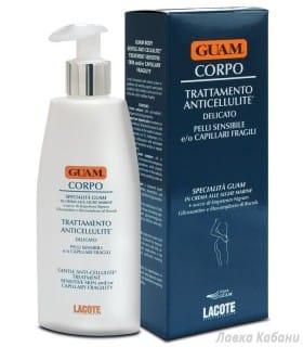 Фото антицеллюлитного крема для чувствительной кожи, для кожи с хрупкими капиллярами Guam