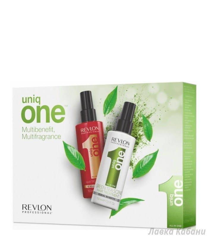 Набор спрей-уход + спрей уход с зеленого чая Uniq One