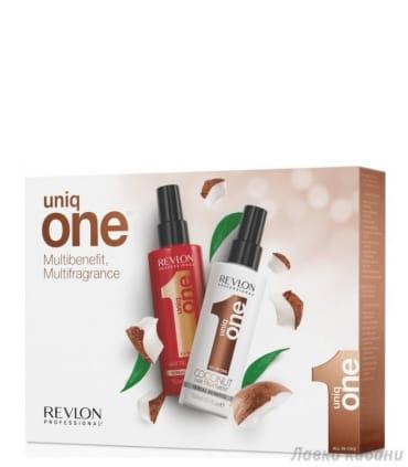 Набор спрей-уход + спрей уход с ароматом кокоса Uniq One